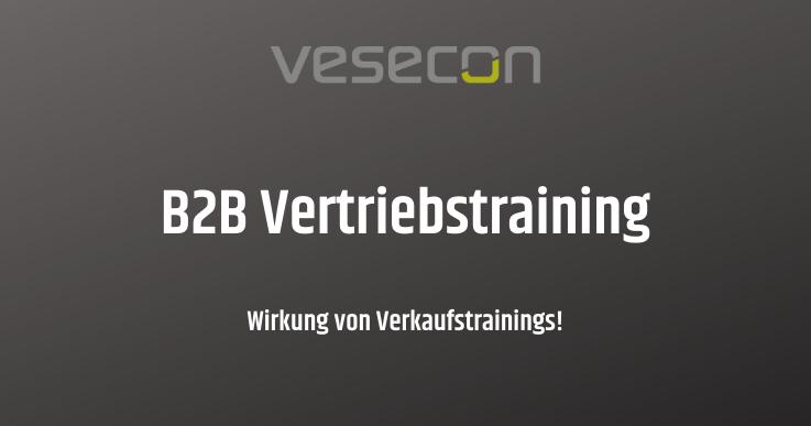 vesecon B2B Vertriebstraining